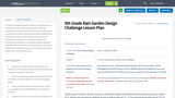 5th Grade Rain Garden Design Challenge Lesson Plan