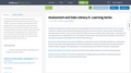 Assessment and Data Literacy E- Learning Series