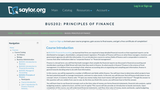 Principles of Finance (Business 202)