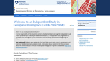 Independent Study in Geospatial Intelligence