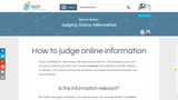 How to judge online information