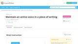 Active Voice in Writing