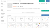 Choosing an Appropriate Growth Model Activity Builder by Desmos