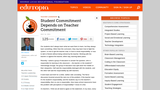 Student Committment Depends on Teacher Committment