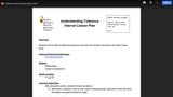 Tolerance Interval CATE Lesson Plan