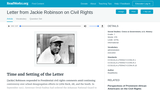 Letter from Jackie Robinson on Civil Rights