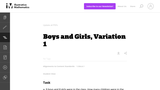 Boys and Girls, Variation 1