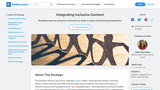 Integrating Inclusive Content