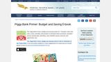 The Piggy Bank Primer: Budget and Saving E-book