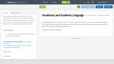 Vocabulary and Academic Language