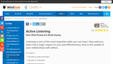 Active listening: Hear what people are really saying.