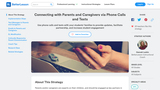 Connecting with Parents and Caregivers via Phone Calls and Texts