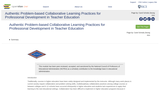 Authentic Problem-based Collaborative Learning Practices for Professional Development in Teacher Education