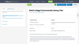 Beloit College Environmental Literacy Plan