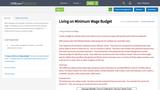 Living on Minimum Wage Budget