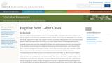 Fugitive from Labor Cases: Henry Garnett and Moses Honner