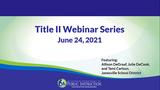 June Title II Webinar with the School District of Janesville