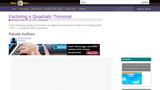 Factoring a Quadratic Trinomial