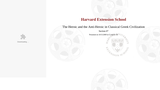 Harvard CLAS E-116: Lecture 11: Section #7 (video lecture)