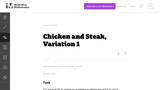 Chicken and Steak, Variation 1