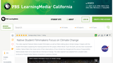 Native Student Filmmakers Focus on Climate Change