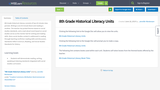 8th Grade Historical Literacy Units
