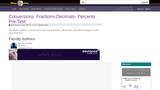 Conversions: Fractions-Decimals- Percents Pre-Test