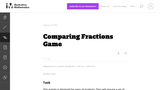 Comparing Fractions Game- Illustrative Math