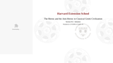 Harvard CLAS E-116: Lecture 20: Section #12 - Initiation (video lecture)