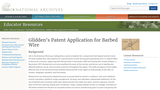 Glidden's Patent Application for Barbed Wire