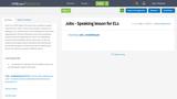 Jobs -  Speaking lesson for ELs