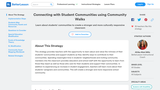 Connecting with Student Communities using Community Walks