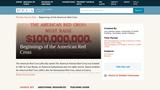 Beginnings of the American Red Cross