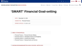 'SMART' Financial Goal-setting