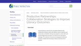 Productive Partnerships: Collaboration Strategies to Improve Literacy Outcomes