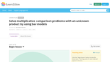 Solve multiplicative comparison problems with an unknown product by using bar models