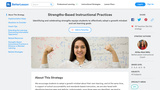 Strengths-Based Instructional Practices