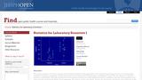 Statistics for Laboratory Scientists I
