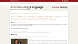 The Challenge of Assessing Language Proficiency Aligned to the Common Core State Standards and Some Possible Solutions