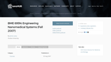 Engineering Nanomedical Systems