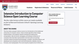 Harvard CSCI E-52: Intensive Introduction to Computer Science Using C, PHP, and JavaScript (Course Syllabus)