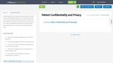 Patient Confidentiality and Privacy