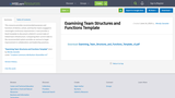 Examining Team Structures and Functions Template