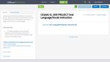 CESA#1 EL OER PROJECT Oral Language/Vocab Instruction