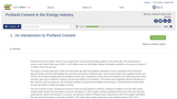 Portland Cement in the Energy Industry