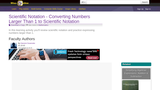 Scientific Notation - Converting Numbers Larger Than 1 to Scientific Notation