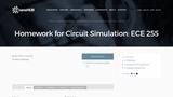 Homework for Circuit Simulation: ECE 255