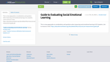 Guide to Evaluating Social Emotional Learning