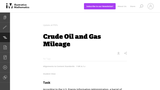 Crude Oil and Gas Mileage