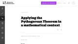 Applying the Pythagorean Theorem in a mathematical context